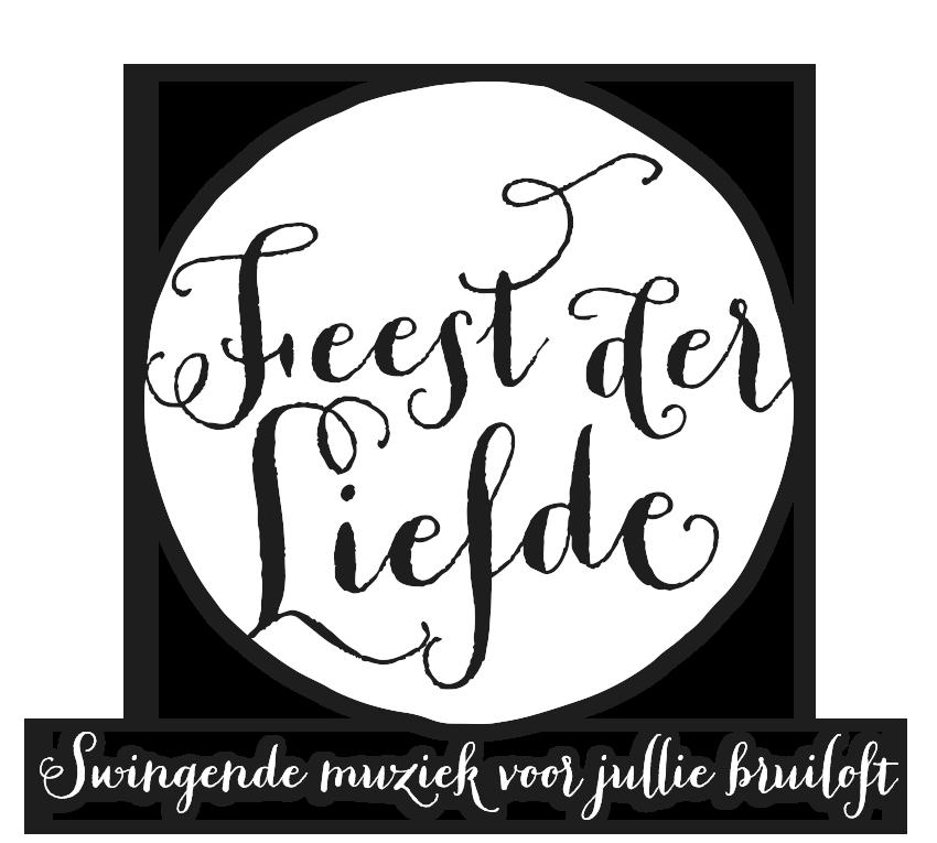 Wit Rond Feest der Liefde Logo en Slogan en Schaduw Groot kopiëren